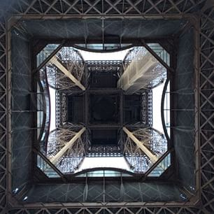 Torre Eiffel in perspective