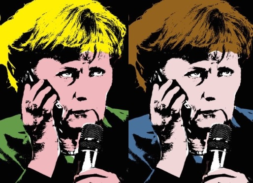 Merkel by Andy Warhol