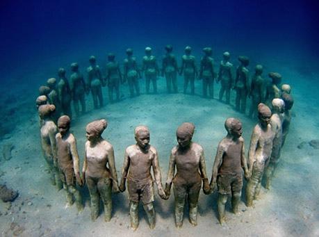Jason de Caires Taylor. underwater sculptures